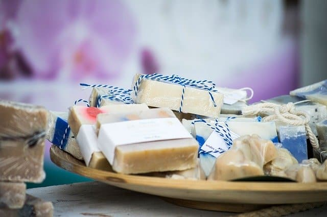 A close up of soap on a table